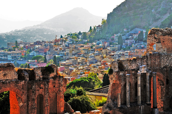 What to do in Taormina - Taormina from the Greek Theatre
