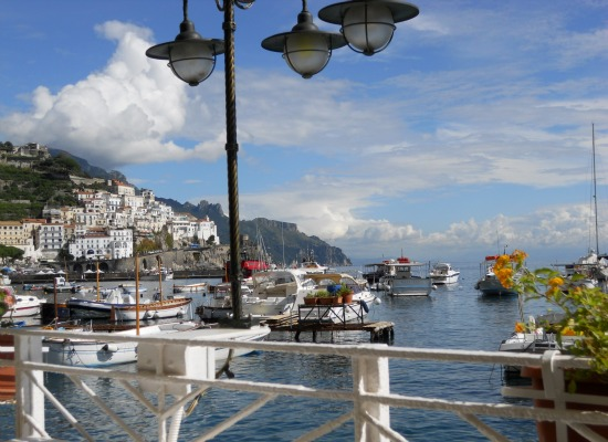 Harbor view of Amalfi
