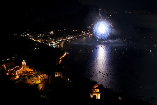 Fireworks display in Borgo Torello, Ravello