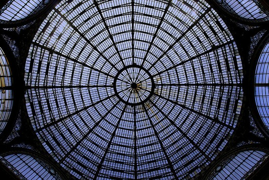 Dome of the Galleria Umberto I in Naples
