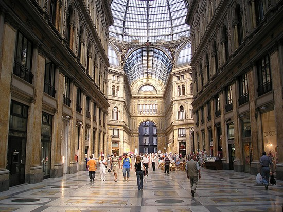 Shopping in the Galleria Umberto I in Naples