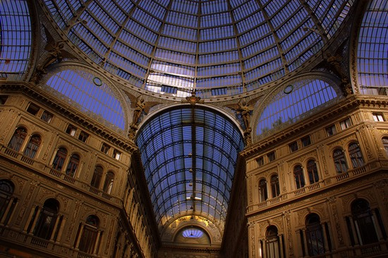 The grand Galleria Umberto I in Naples