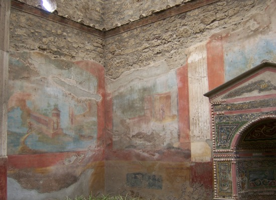 Pictures of Pompeii frescoes