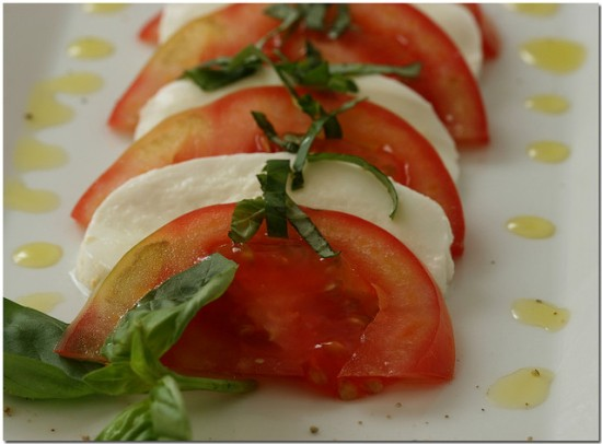 Mozzarella tomato - Caprese with bufala cheese