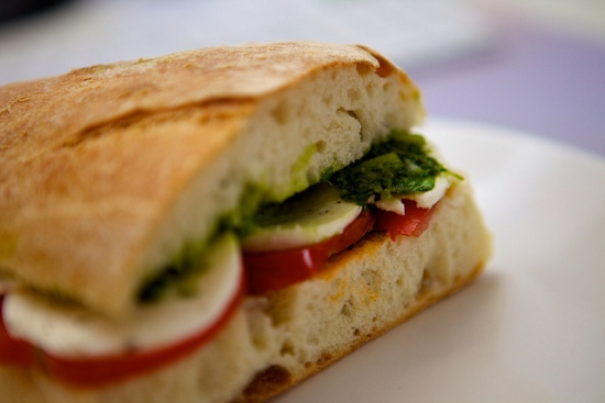 Sandwich  with Mozzarella cheese, Campania - Italy