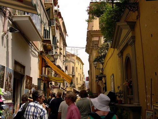 Enjoy an evening walk during summer in Sorrento