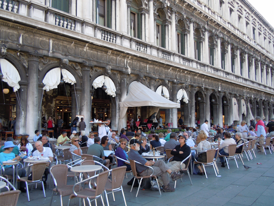 Caffe Florian in Piazza San Marco, Photo credit: Leslie Rosa
