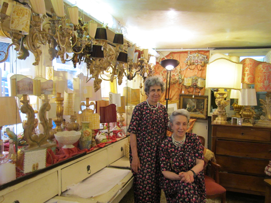 Rita and Rosa, the Greco sisters at their shop of artiginal goods for the home, Photo credit: Leslie Rosa