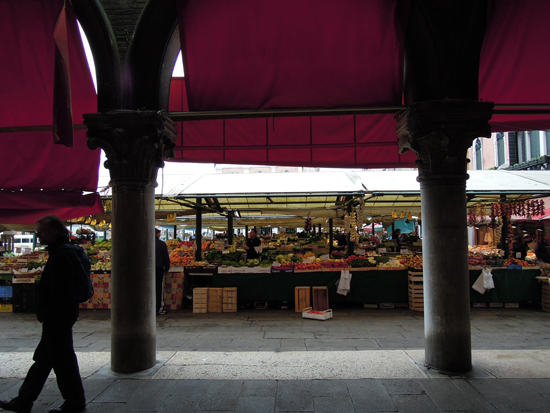 Markets in Venice - View from the Pescaria in the Rialto Market