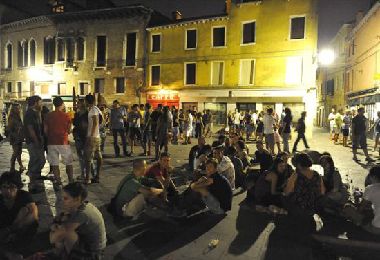 Campo Santa Margherita, a hip student hang out. Photo credit: Il Gazzettino