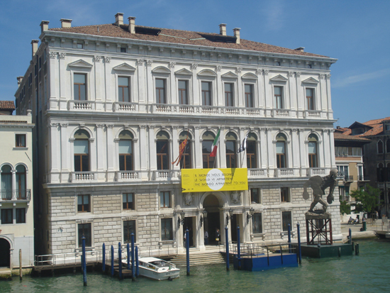 Palazzo Grassi, perhaps the most important venue for contemporary art in Venice, Photo credit: Leslie Rosa