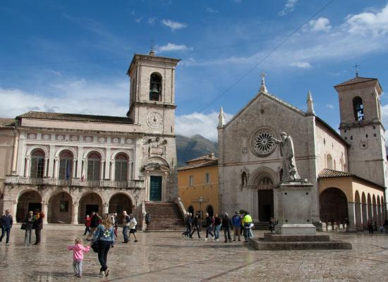 Norcia, the main square