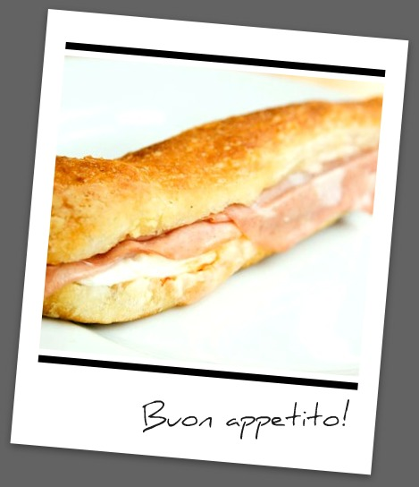 Panino with mortadella