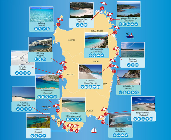Best beaches in Sardinia - Infographic