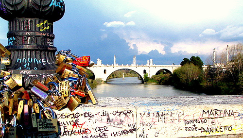Ponte Milvio and the Love Padlocks