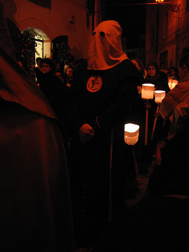 Easter procession in Alghero, Sardinia, Italy