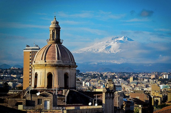 Winter Sea in Southern Italy: Catania, Sicily