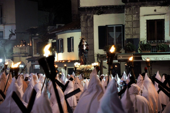 The procession of the Addolorata, Sorrento