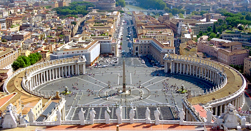 St. Peters' Square and Basilica, Rome, Lazio - Flicker Photo Credits: David Paul Ohmer